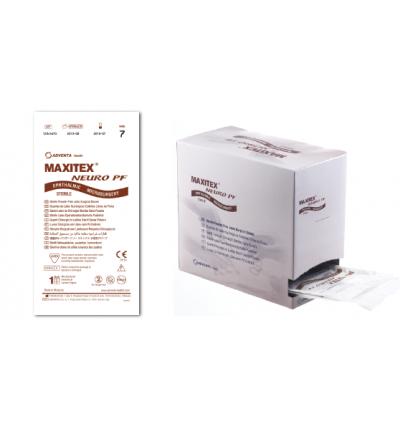 Латексные неопудренные микрохирургические перчатки MAXITEX Neuro PF