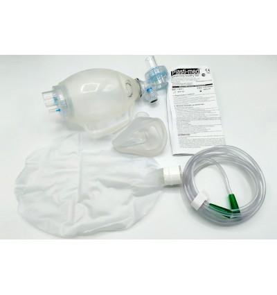 Мешок ручной вентиляции легких тип АМБУ многоразового использования, кислородная трубка длиной 2м