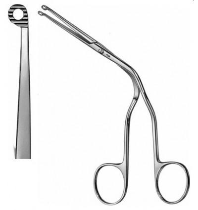 Щипцы для введения катетера изогнутые для маленьких детей по Magill 15см