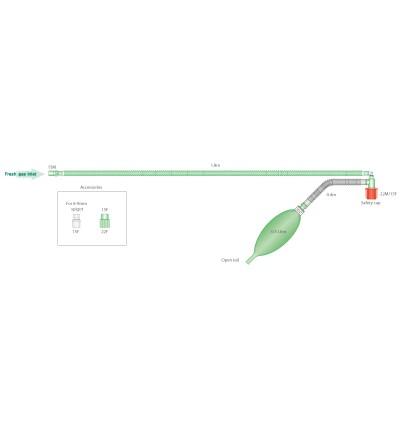 Дыхательный контур Мэйплсон F для детей с открытм резервуарным мешком 0,5л, длина 1.8м