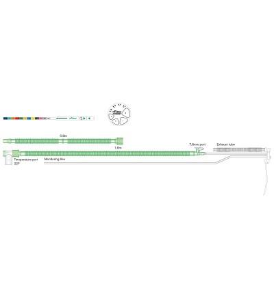 nFlow дыхательный контур для СРАР-терапии с проводом нагрева для грудных детей, длина 1.6м