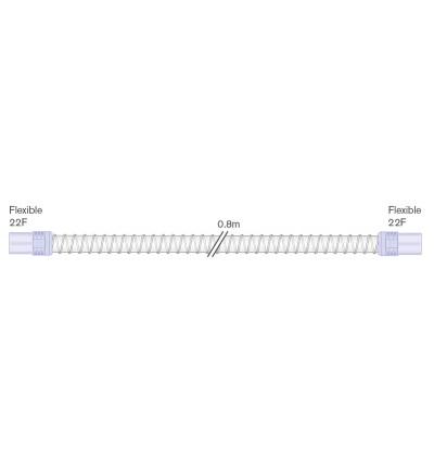 Шланг Smoothbore 22мм с мягким концевым соединителем 22F-22F, длина 0,8м