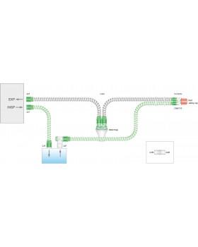 Дыхательный контур с проводом нагрева, влагосборником и дополнительным шлангом 0,5м