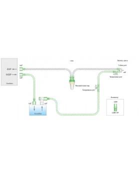 Дыхательный контур 10мм с проводом нагрева с влагосборником, длина 1,6м