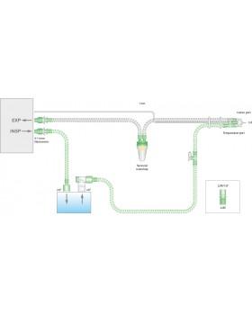 Дыхательный контур с проводом нагрева 10мм с линией мониторинга и дополнительным шлангом 0,5м