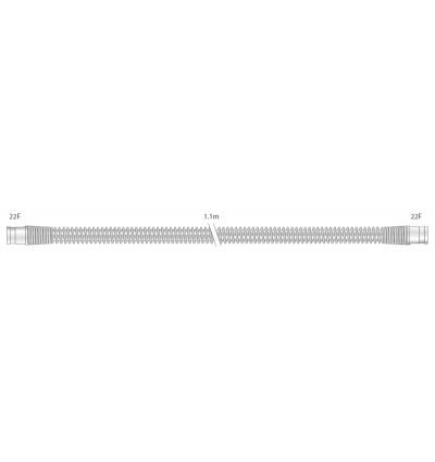 Прозрачный многоразовый силиконовый шланг 22 мм для взрослых, длина 1,1 м