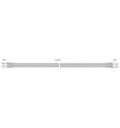 Прозрачный многоразовый силиконовый шланг 22 мм для взрослых, длина 0,45 м