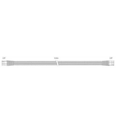 Прозрачный многоразовый силиконовый шланг 22 мм для взрослых, длина 0,6 м