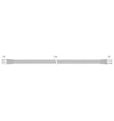 Прозрачный многоразовый силиконовый шланг 22 мм для взрослых, длина 1,5 м