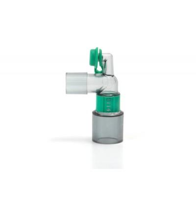 Прозрачный угловой коннектор с портом luer 15М-22М/15F